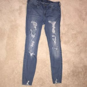 Skinny Ripped Hollister Jeans